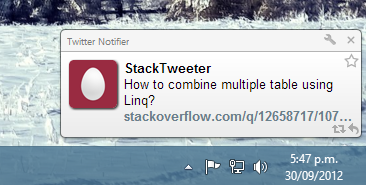 StackTweeter